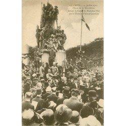 57 METZ. Chant de la Marseillaise par la Chorale devant Statue Ney en 1914