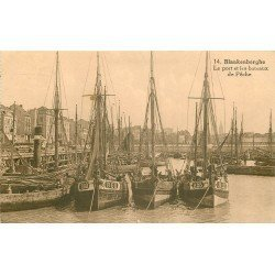 BLANKENBERGHE BLANKENBERGE. Bateaux de Pêche dans le Port 1933