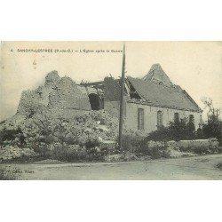 62 SANCHY-LESTREE. L'Eglise détruite après la Guerre