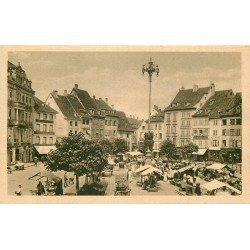 68 MULHOUSE MULHAUSEN. Le Marché avec beau timbre Librairie Seiffer