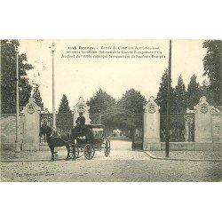 35 RENNES. Corbillard à l'Entrée du Cimetière aux victimes de la Guerre 1914