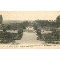 61 MORTAGNE. Jardin de l'Hôtel de Ville 1923