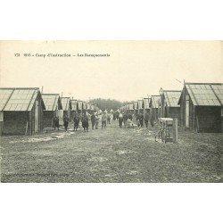 61 MORTAGNE. Les Baraquements du Camp d'instruction avec Militaires 1916