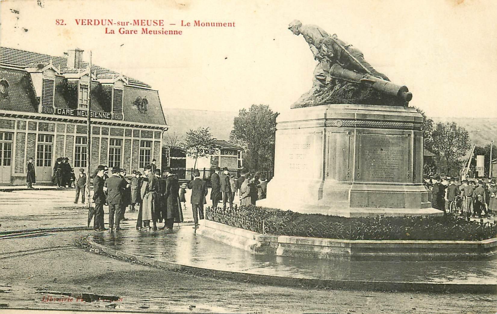 55 verdun sur meuse le monument et la gare meusienne 1917. Black Bedroom Furniture Sets. Home Design Ideas