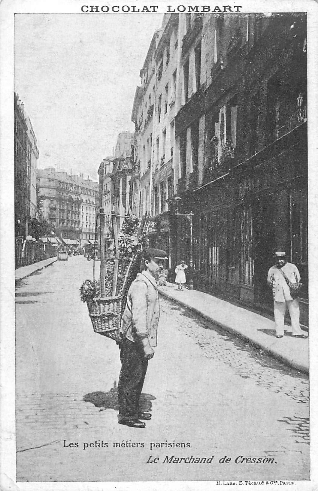Série les petits Métiers parisiens. Le Marchand de Cresson. Chocolat Lombard