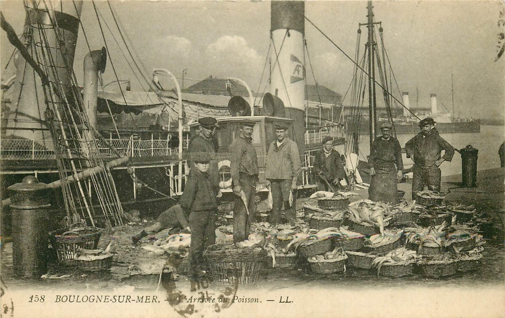 chambre des metiers boulogne sur mer - 62 boulogne sur mer l 39 arriv e du poisson 1921 m tiers de