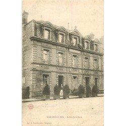 55 MONTMEDY-BAS. Buffet de la Gare avec Serveur vers 1900