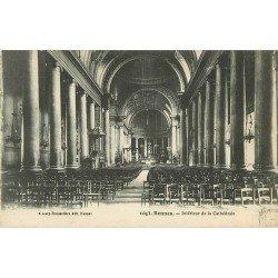 35 RENNES. Intérieur de la Cathédrale avec sa Chaire et son Autel