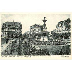 carte postale ancienne 14 DEAUVILLE. Place Morny. Publicité SUZE sur les murs