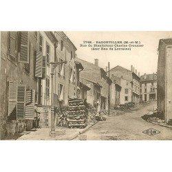 54 BADONVILLER. Rue du Bienfaiteur Charles Crouzier ex. rue de Lorraine