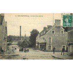 14 SAINT-MARC-PONT-D'OUILLY. Hotel de la Grace de Dieu arrivée à Pont d'Ouilly 1908