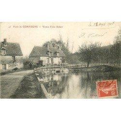 60 FORET DE COMPIEGNE. Viviers Frère Robert 1908 attelage Nouvelles Galeries