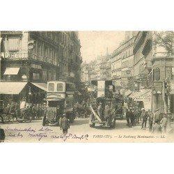 PARIS IX° Autobus à Impériale Faubourg Montmartre