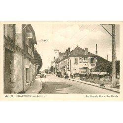 41 CHAUMONT-SUR-LOIRE. Les Hôtels sur la Grande Rue