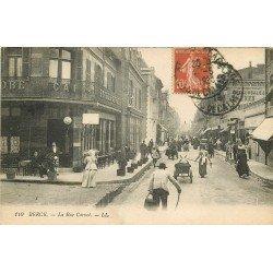 62 BERCK. Attelages ânes devant l'Hôtel Café du Globe rue Carnot 1919
