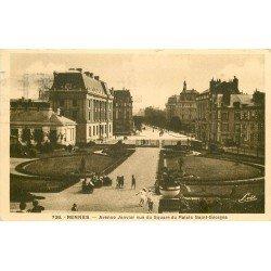 35 RENNES. Nurses au Square du Palais Saint-Georges Avenue Janvier 1936