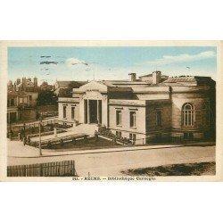 51 REIMS. Bibliothèque Carnegie 1945