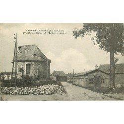 62 SAUCHY-LESTREE. Ancienne Eglise et Eglise provisoire 1922