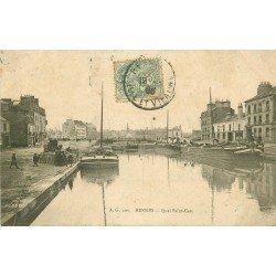 35 RENNES. Quai Saint-Cast avec Péniches 1906