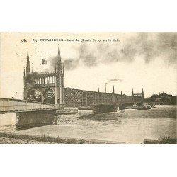 67 STRASBOURG. Train à vapeur sur le Pont du Rhin 1927