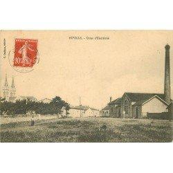 55 EUVILLE. Usine d'Electricité vers 1918 personnages dans le Pré