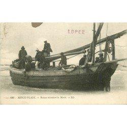 62 BERCK PLAGE. Bateau attendant la Marée 1911. Pêche et Pêcheurs