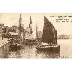 50 SAINT-VAAST-LA-HOUGUE. Départ pour la Pêche et des Pêcheurs du Quai Vauban