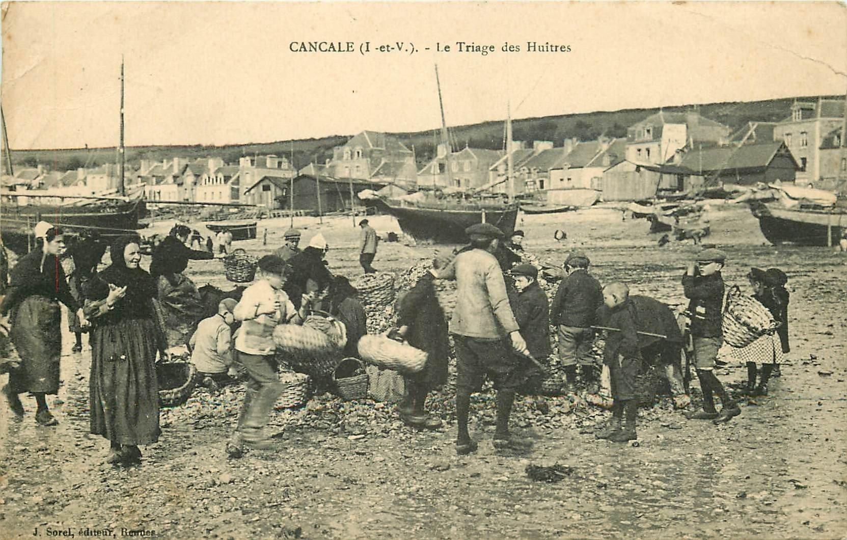 35 CANCALE. Le Triage des Huîtres. Crustacés et métiers de la Mer