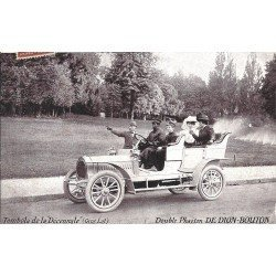 TRANSPORTS. Voiture Double Phaeton De Dion Bouton avec Chauffeur 1907 au Bois de Boulogne