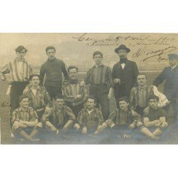 14 CAEN. L'Equipe de Football en 1904. Photo carte postale ancienne