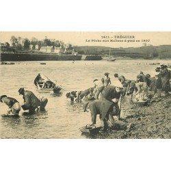 22 TREGUIER. La Pêche aux Huîtres à pied en 1907