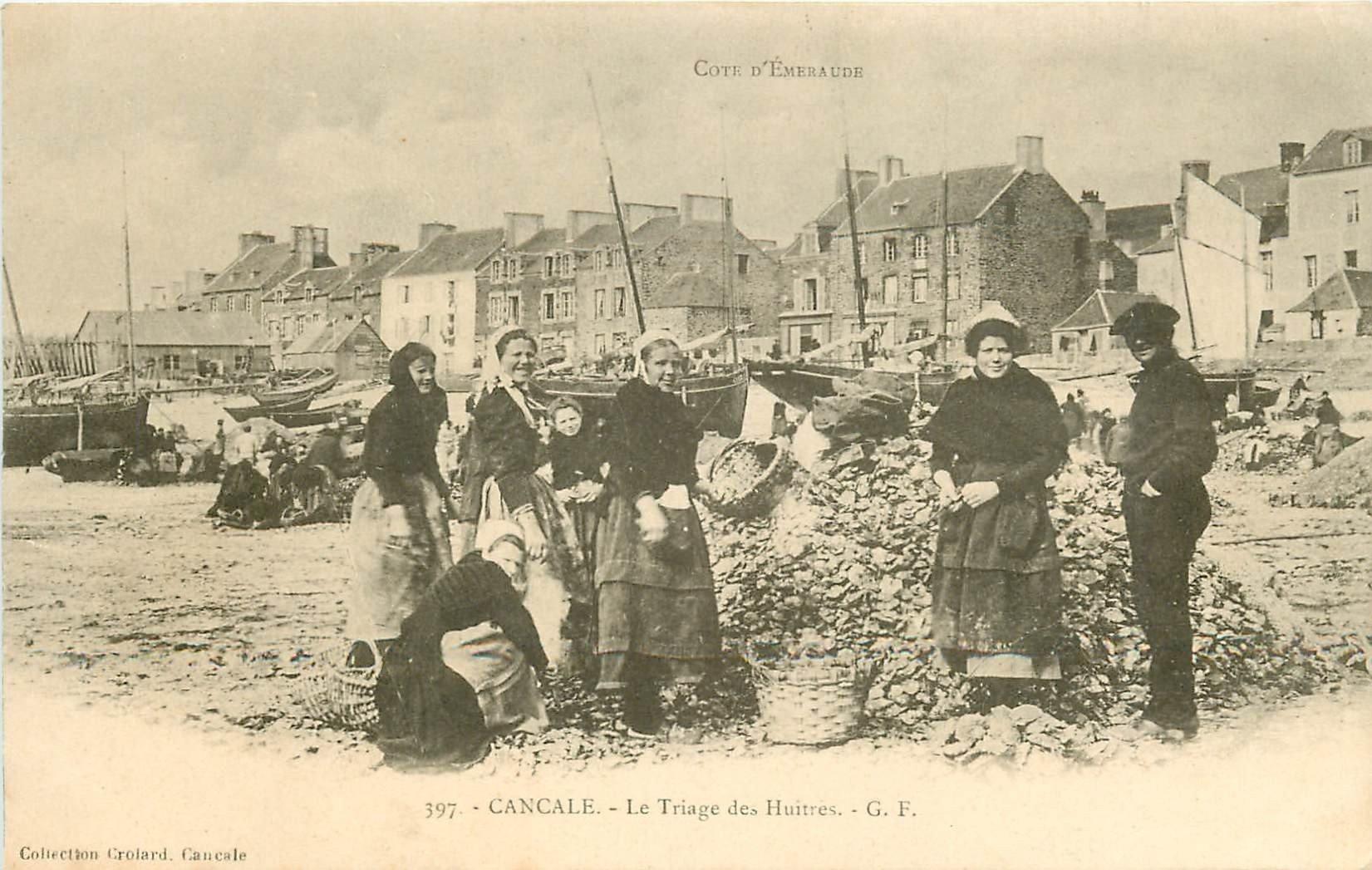 35 CANCALE. Le Triage des Huîtres vers 1900