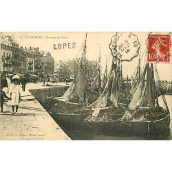 76 LE TREPORT. Barques de Pêche 1909 Métiers de la Mer