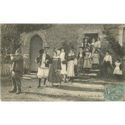 44 BATZ. Une Noce au Bourg de Batz au Pays du Sel 1906 Paludiers (défauts)...