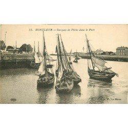14 HONFLEUR. Barques de Pêche dans le Port. Pêcheurs et métiers de la Mer