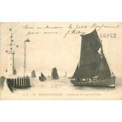 62 BOULOGNE-SUR-MER. Rentrée des Pêcheurs au Port après la Pêche 1904