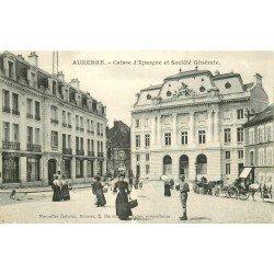 89 AUXERRE. Caisse d'Epargne et Banque Société Générale 1908