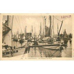29 CONCARNEAU. Les Bateaux de Pêche avec Pêcheurs 1931