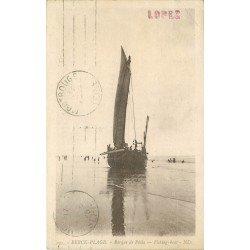 62 BERCK PLAGE. Pêcheurs sur Barque de Pêche 1928