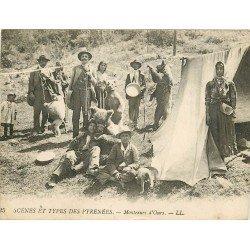 65 Scènes et Types des Pyrénées. Montreurs d'OURS et SINGES 1923 (défaut)