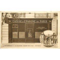 93 MONTREUIL. Caisse Epargne de Paris 56 Boulevard Rouget de l'Isle