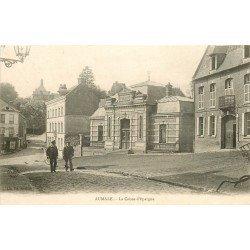 76 AUMALE. Banque Caisse Epargne et Café 1905