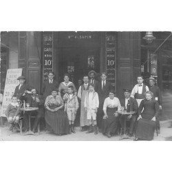 PARIS XIV. Rare Café Bar Sapin rue du Château. Photo carte postale ancienne