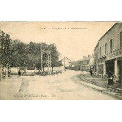 78 MAULE. Magasin A la Halte des Cyclistes Place de la Renaissance 1916