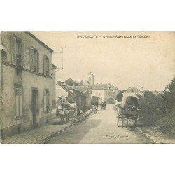78 BAZEMONT. Ouvriers Terrassiers sur Grande Rue route de Maule