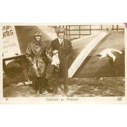 AVIATION. Aviateurs Costes et Rignot sur Avion lors du Record du monde en 1926