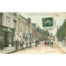 37 RICHELIEU. Horloger et Cyclistes Rue et Porte de Loudun 1908