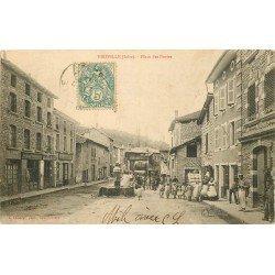 38 VIRIVILLE. Matelassier Place des Buttes vers 1905