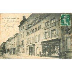 63 AIGUEPERSE. Au Bon Marché sur la Grand Rue 1910