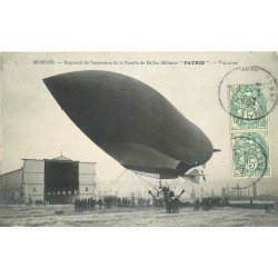 """78 MOISSON. Dirigeable nacelle du Ballon Militaire """" PATRIE """" 1907"""